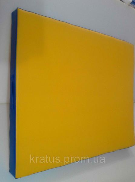 Мат гимнастический детский разноцветный 1,2х1х0,1м