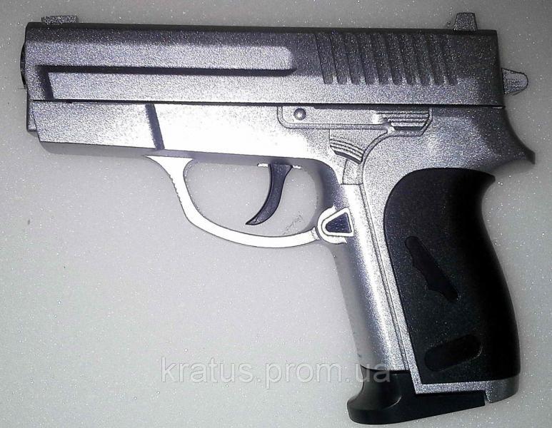 Фото Игрушечное Оружие, Стреляет пластиковыми 6мм  пульками, Металлическое и комбинированное (металл + пластик) оружие Пистолет металлический ZM 01А в кейсе