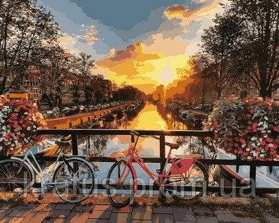"VP 640 ""Каналы Амстердама"" Роспись по номерам на холсте 40х50см"