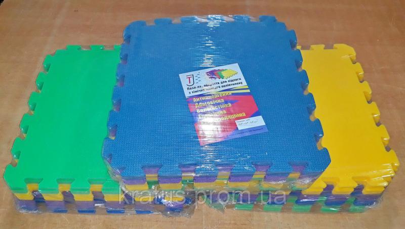 Коврик-пазл  модульное покрытие 12шт.  50 кг/м3   480х480х10мм
