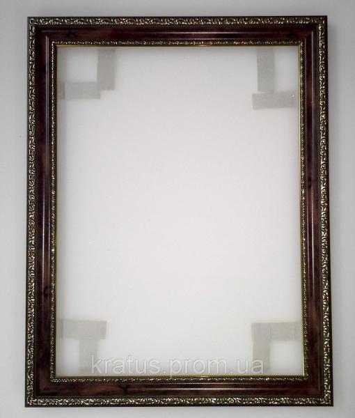 """Багеты (рамки) """"Темное дерево"""" для картин  размером 40х30см"""