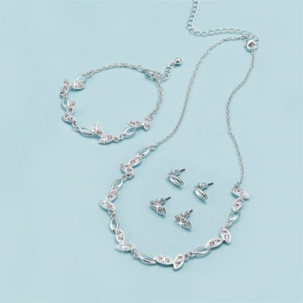 Набор «Дарлин»: колье, браслет, серьги (2 пары)
