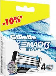 Фото Станки и лезвия, наборы подарочные, картриджи для бритв, Картриджи Картридж Gillette Mach 3 Start 4 шт.