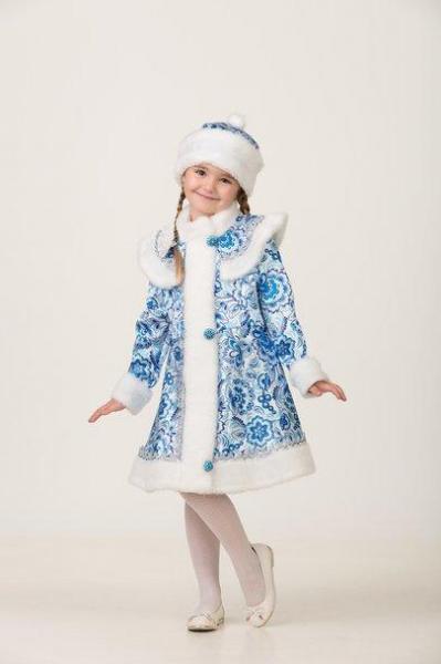 Карнавальный костюм Снегурочка Гжель 2 детский
