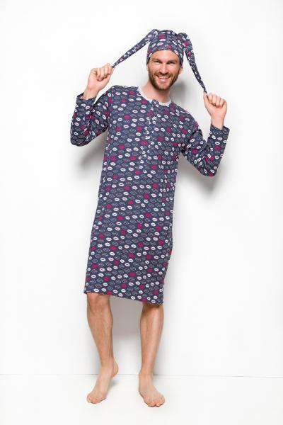 Сорочка мужская пижамная KOSZULKA TARO 008 FILIP AW18_conf