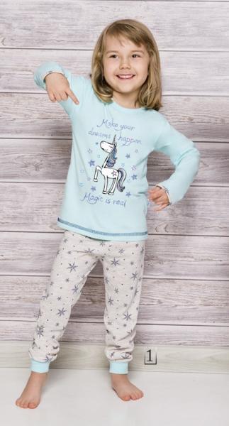 Пижама детская для девочек PIŻAMA TARO 1165 ELZA AW17_conf