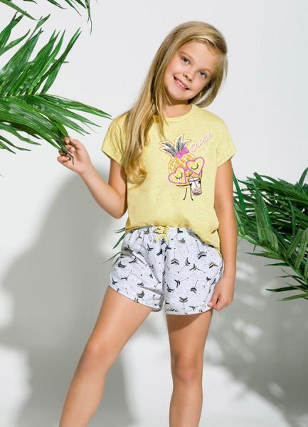 Пижама детская для девочек PIŻAMA TARO 2204 PIA SS18_conf