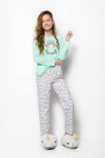 Пижама детская для девочек PIŻAMA TARO 2248 MAJA AW18_conf