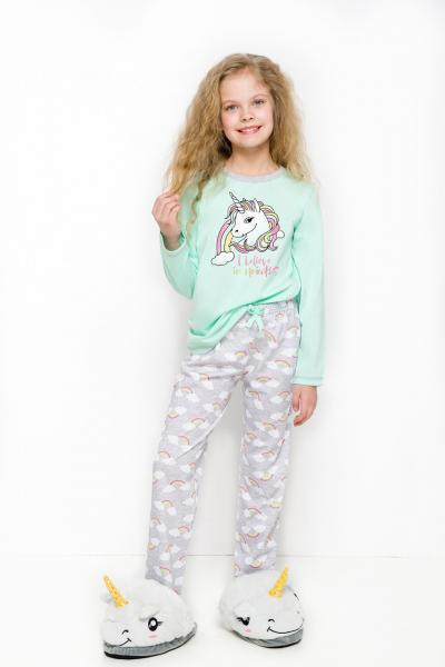 Пижама детская для девочек PIŻAMA TARO 2253 MAJA AW18_conf