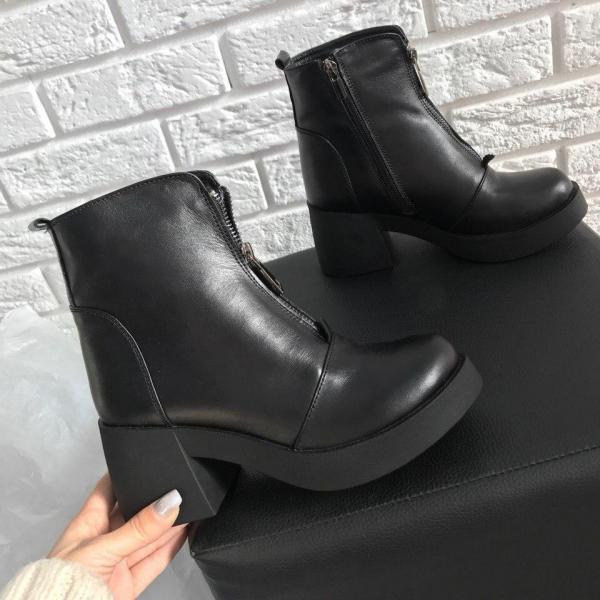 Женские кожаные ботинки. Украина