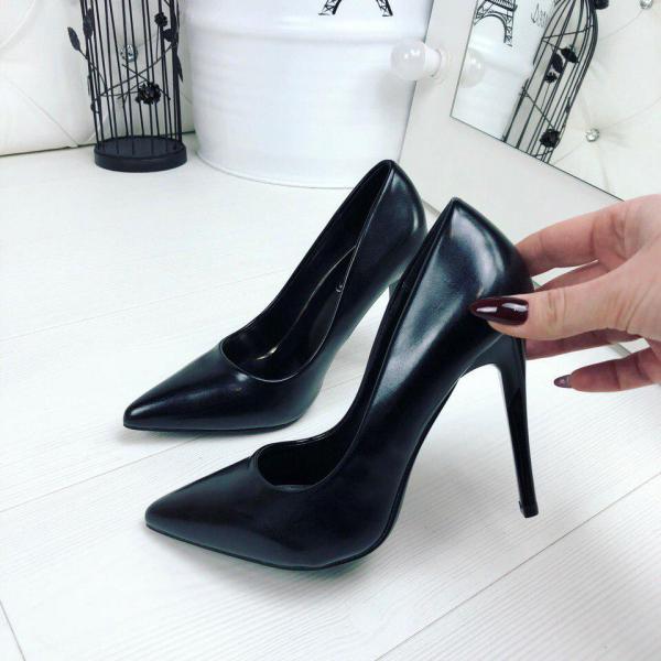 Туфли женские лодочки черные. Польша