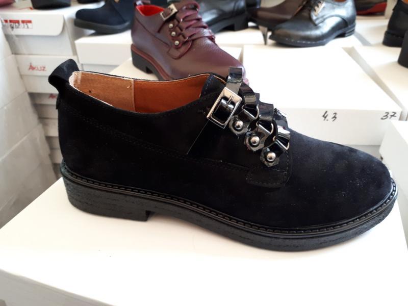 Туфли женские замшевые+лак. Украина