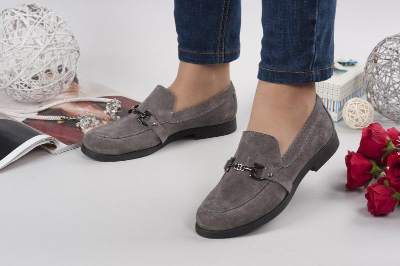 Женские замшевые туфли- лоферы GU4I. Украина