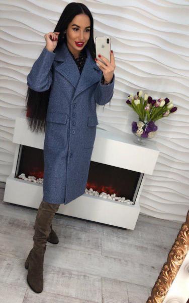 Стильное  кашемировое пальто.