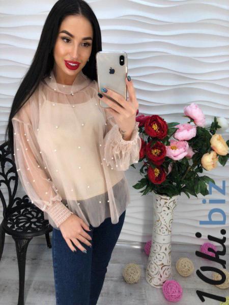 Стильная шифоновая блуза с жемчугом. Блузки и туники женские на Центральном рынке Харькова