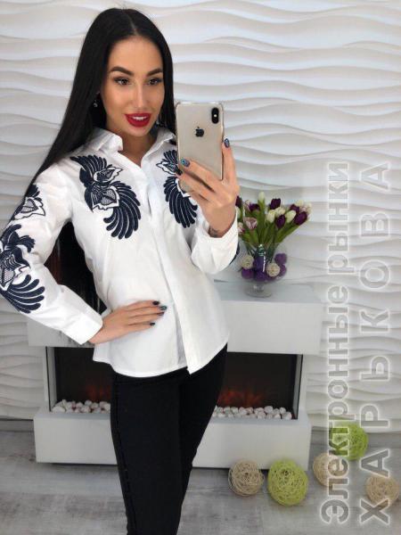 2d6e7a10f70 Стильная которовая блуза с вышивкой. - Блузки и туники женские на рынке  Барабашова
