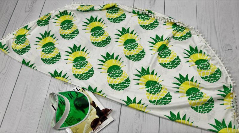 Пляжный коврик ананасы.