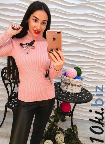 Стильный розовый гольф с аппликацией. Женские свитера, водолазки, гольфы, кофты на Центральном рынке Харькова