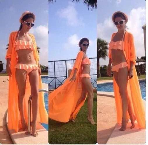 Туника - халатик пляжный оранжевого цвета