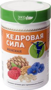 Фото ПРАВИЛЬНОЕ ПИТАНИЕ Продукт белково-витаминный «Кедровая сила - Женская»