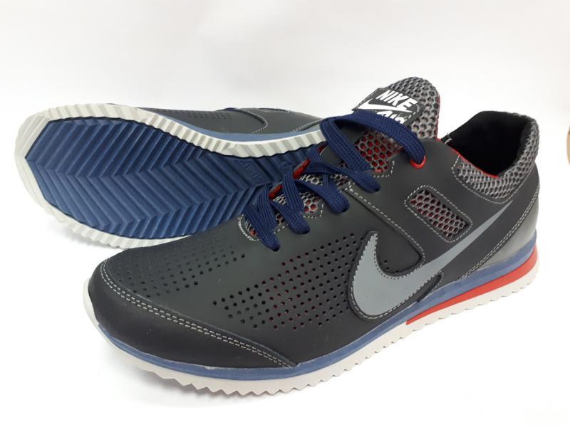 Кроссовки кожаные мужские летние сетка Nike. Харьков