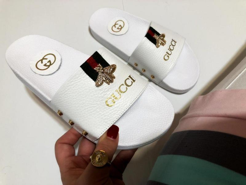 Женские кожаные шлепки Gucci. Украина