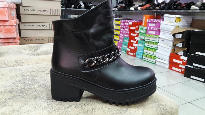Стильный кожаные зимние ботинки! Украина