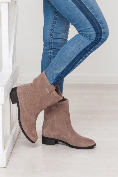 Стильный замшевые женские ботинки! Украина