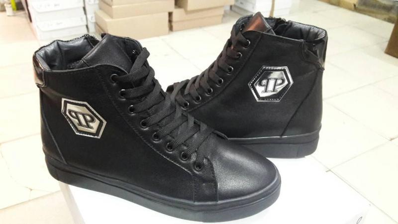 Женские зимние кожаные ботинки P/Plein! Украина