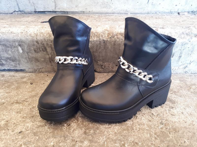 Женские модные кожаные ботинки! Украина