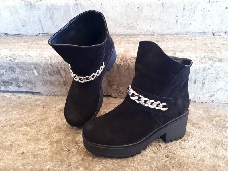 Женские модные замшевые ботинки! Украина