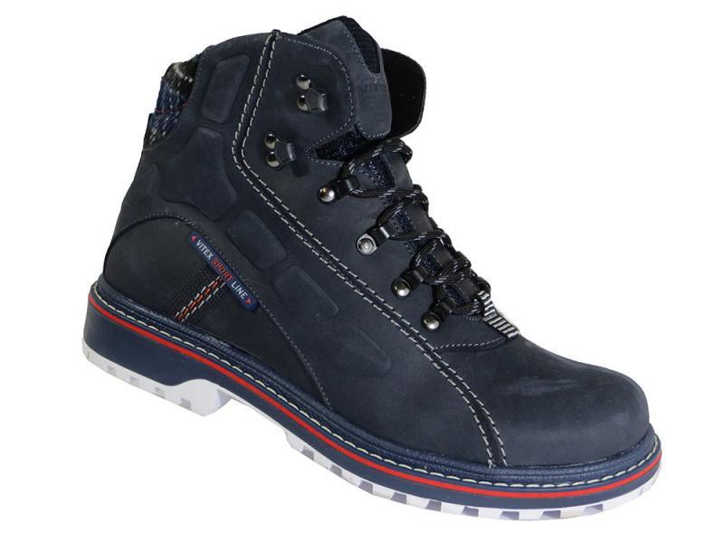Зимние мужские ботинки Vitex синего цвета. Украина