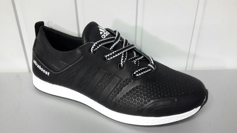 Мужские кожаные кроссовки adidas. Украина