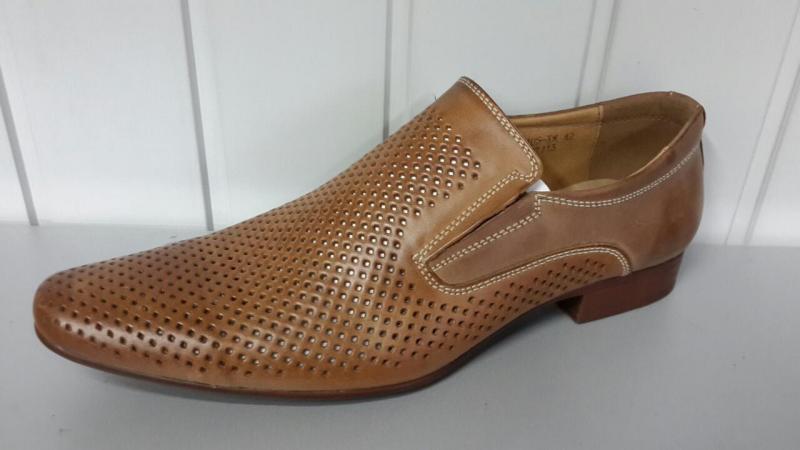 Мужские летние туфли TJTJ из натуральной кожи. Польша