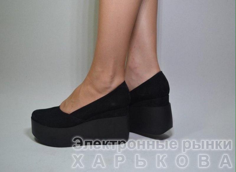 c1b0c0695 Туфли замшевые на танкетке Glam. Украина - Туфли женские на рынке Барабашова