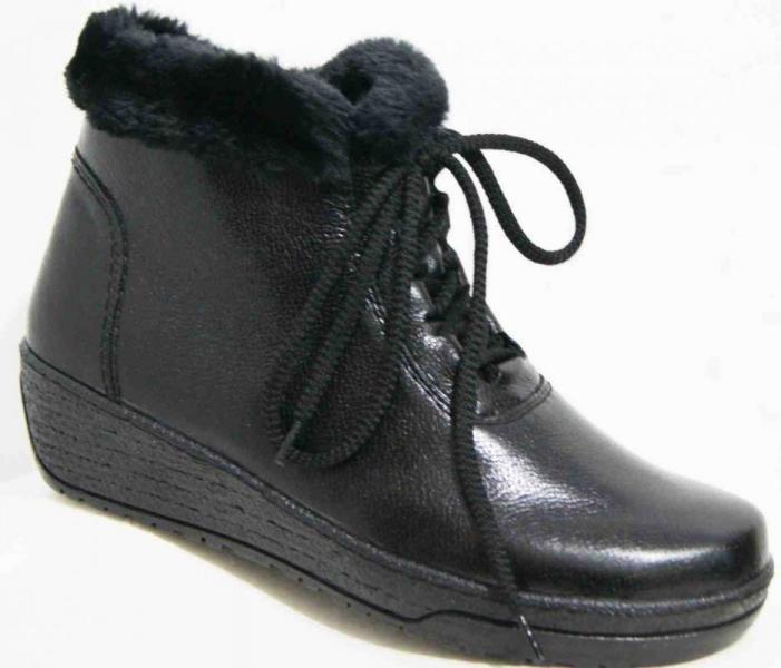 Кожаные женские зимние ботинки 36-44 рр. Украина