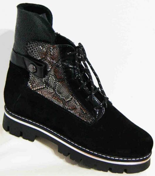 Замшевые женские зимние ботинки 36-42 рр. Украина