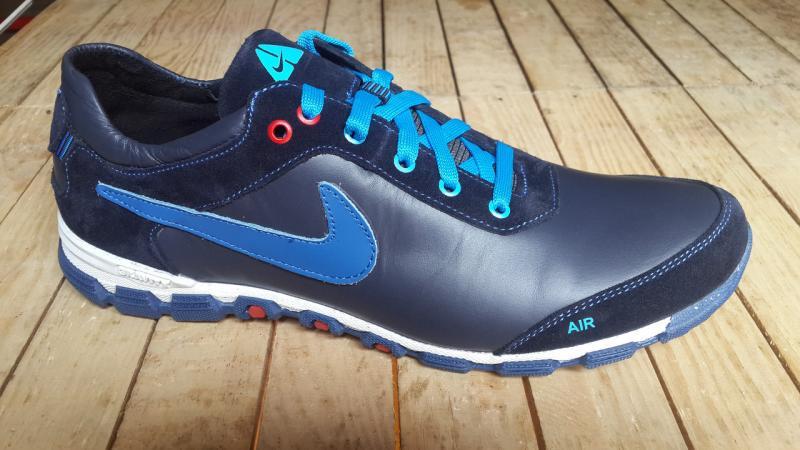Кроссовки Nike из натуральной кожи синие. Украина