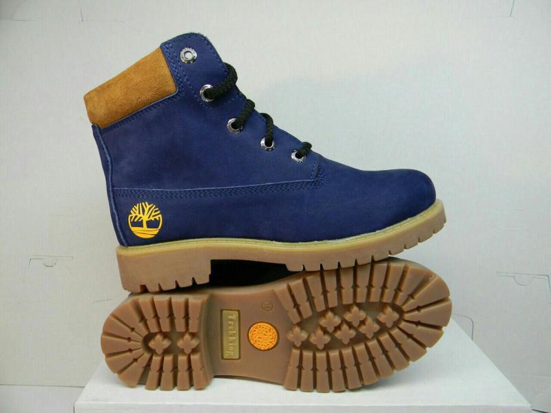 Фото Подростковая и детская обувь, Весенне-осенние ботинки Подростковые ботинки Timberland синего цвета Украина