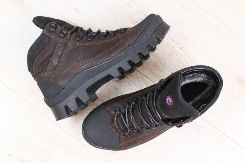 Зимние мужские кожаные ботинки Colаmbia. Харьков