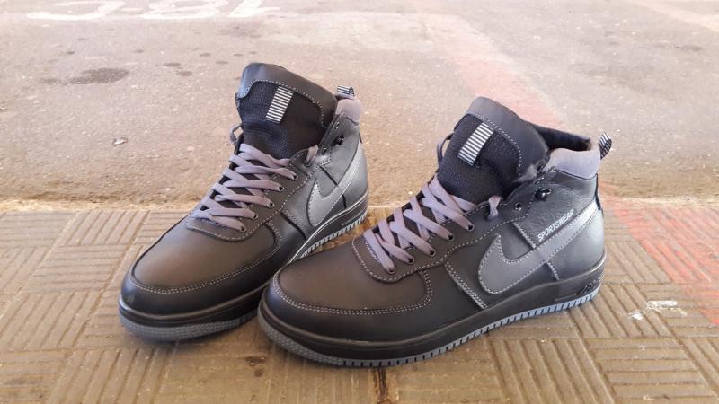 Зимние мужские кожаные кеды Nike. Харьков