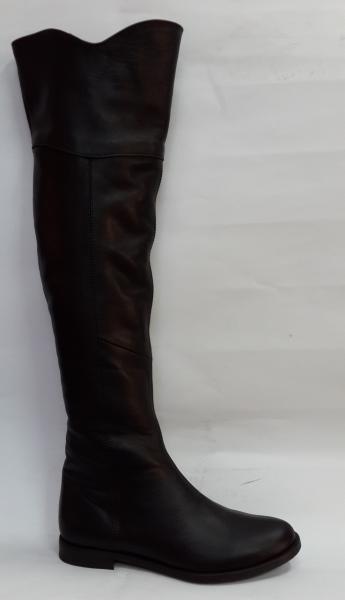 Классический ботфорд из натуральной кожи зима. Украина