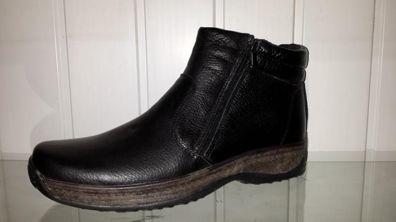 Зимние мужские ботинки на молнии. Украина