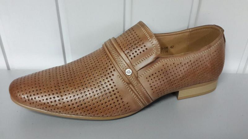 Мужские летние туфли TJTJ коричневого цвета. Польша