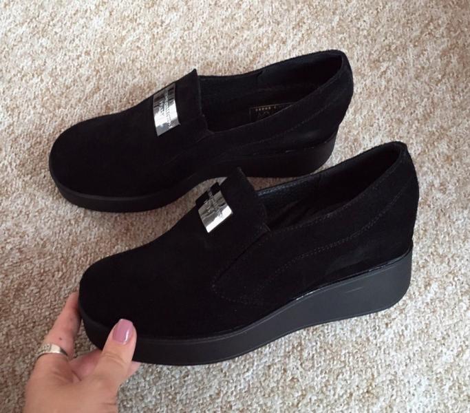Туфли женские из натуральной замши. Украина