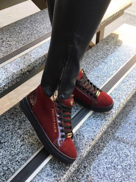 Женские зимние замшевые ботинки P/Plein! Украина