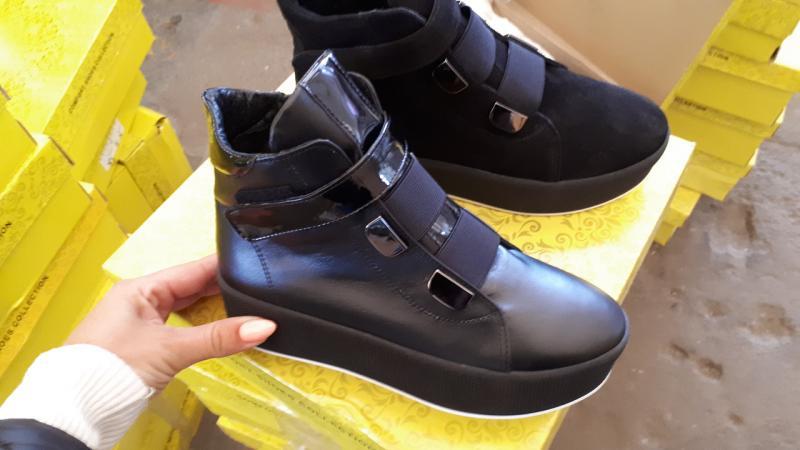 Женские зимние кожаные ботинки! Украина