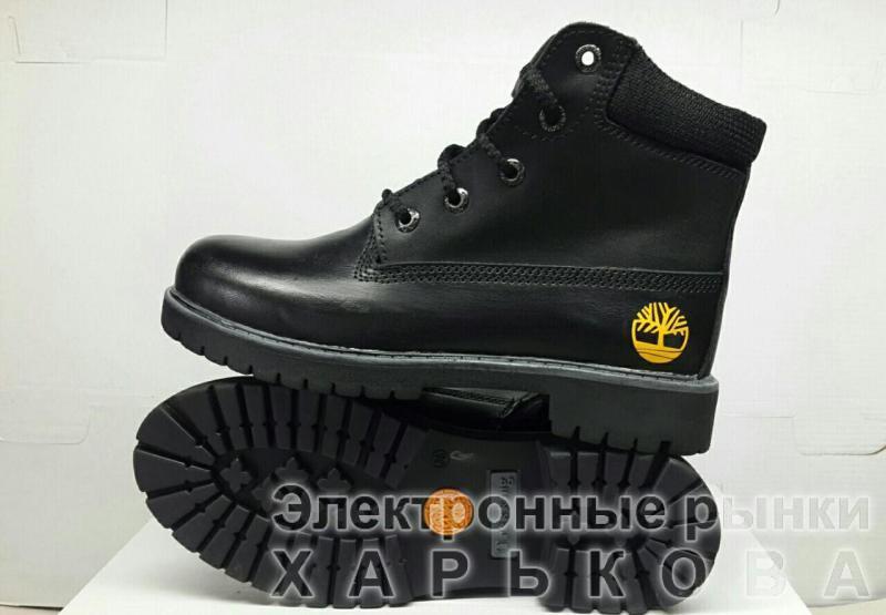 Подростковые кожаные ботинки Timberland. Украина - Демисезонная детская и подростковая  обувь на рынке Барабашова 9b3511960ce5a