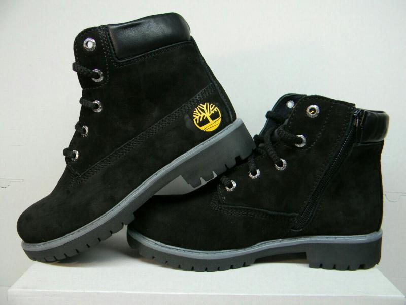 Подростковые ботинки черного цвета Украина