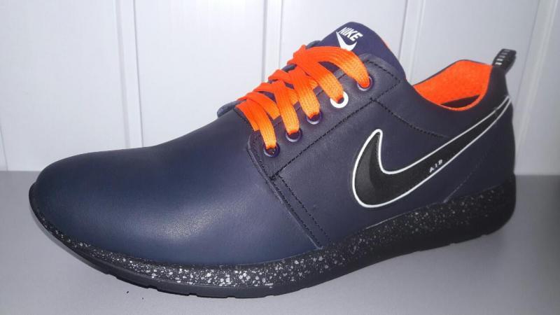 Мужские кожаные кроссовки Nike Roshe Run. Украина